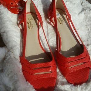**Seychelles Deep Pink Would I Lie Sandal 9.5